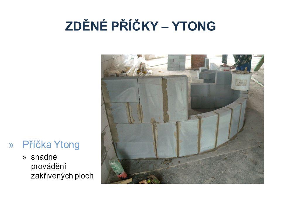 ZDĚNÉ PŘÍČKY – YTONG »Příčka Ytong »snadné provádění zakřivených ploch