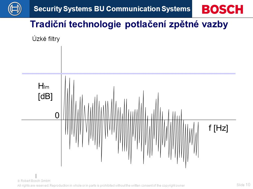Security Systems BU Communication Systems Slide 9  Robert Bosch GmbH All rights are reserved.