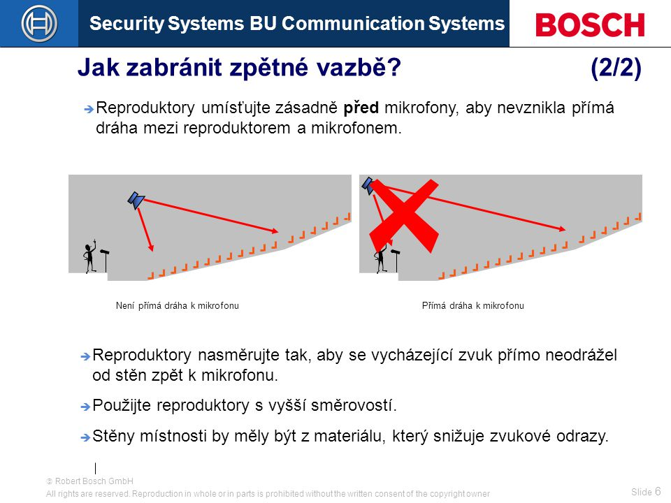 Security Systems BU Communication Systems Slide 6  Robert Bosch GmbH All rights are reserved.