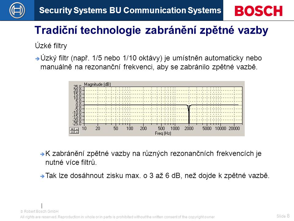 Security Systems BU Communication Systems Slide 28  Robert Bosch GmbH All rights are reserved.