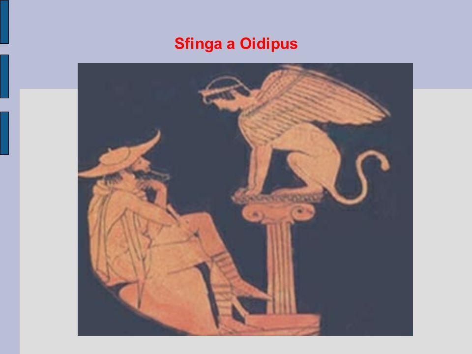 Sfinga a Oidipus