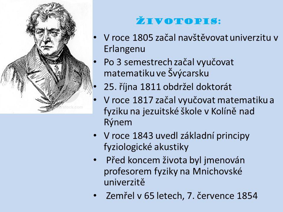 Životopis: V roce 1805 začal navštěvovat univerzitu v Erlangenu Po 3 semestrech začal vyučovat matematiku ve Švýcarsku 25. října 1811 obdržel doktorát