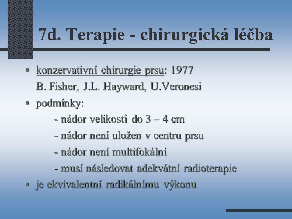 7d.Terapie - chirurgická léčba  konzervativní chirurgie prsu: 1977 B.