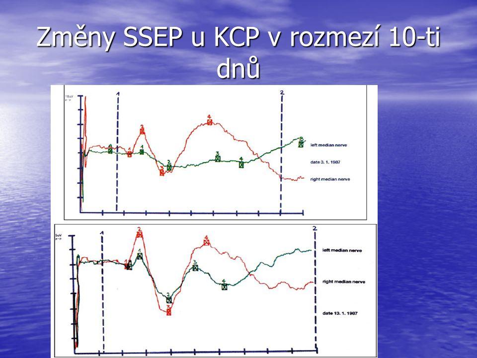 Změny SSEP u KCP v rozmezí 10-ti dnů
