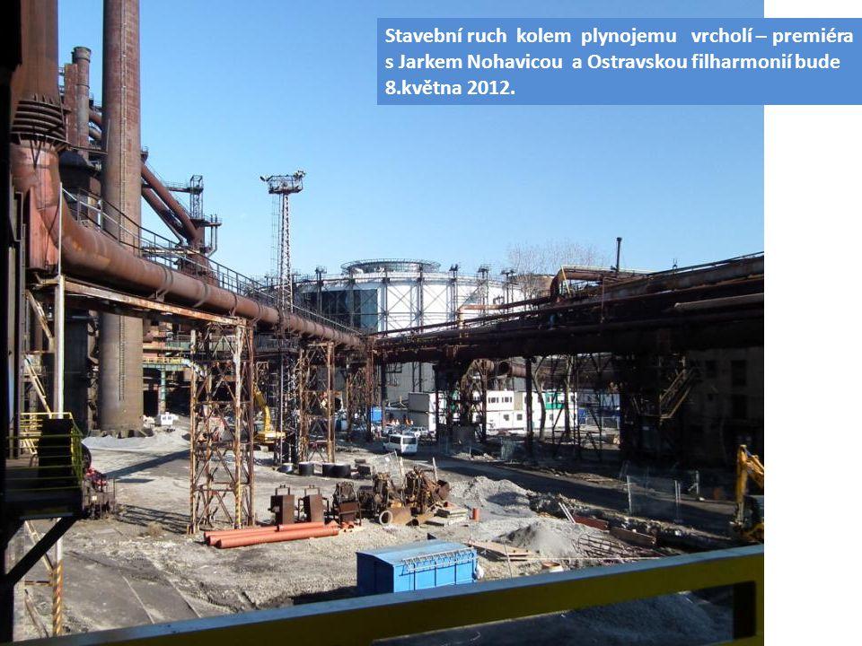 Stavební ruch kolem plynojemu vrcholí – premiéra s Jarkem Nohavicou a Ostravskou filharmonií bude 8.května 2012.