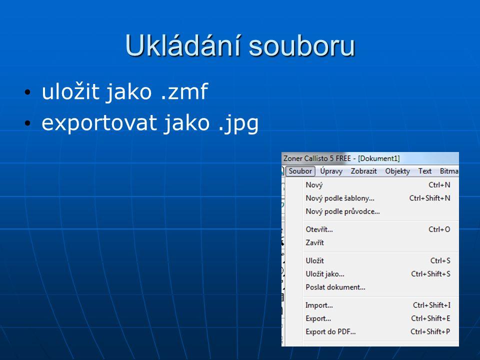 Změna měřítka výseky pracovní plochy pomocí zoomu zobrazení stránky předchozí měřítko Ctrl + kolečko myši