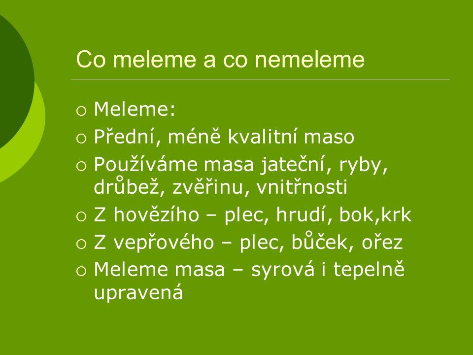 TEPELNÉ ÚPRAVY ML.