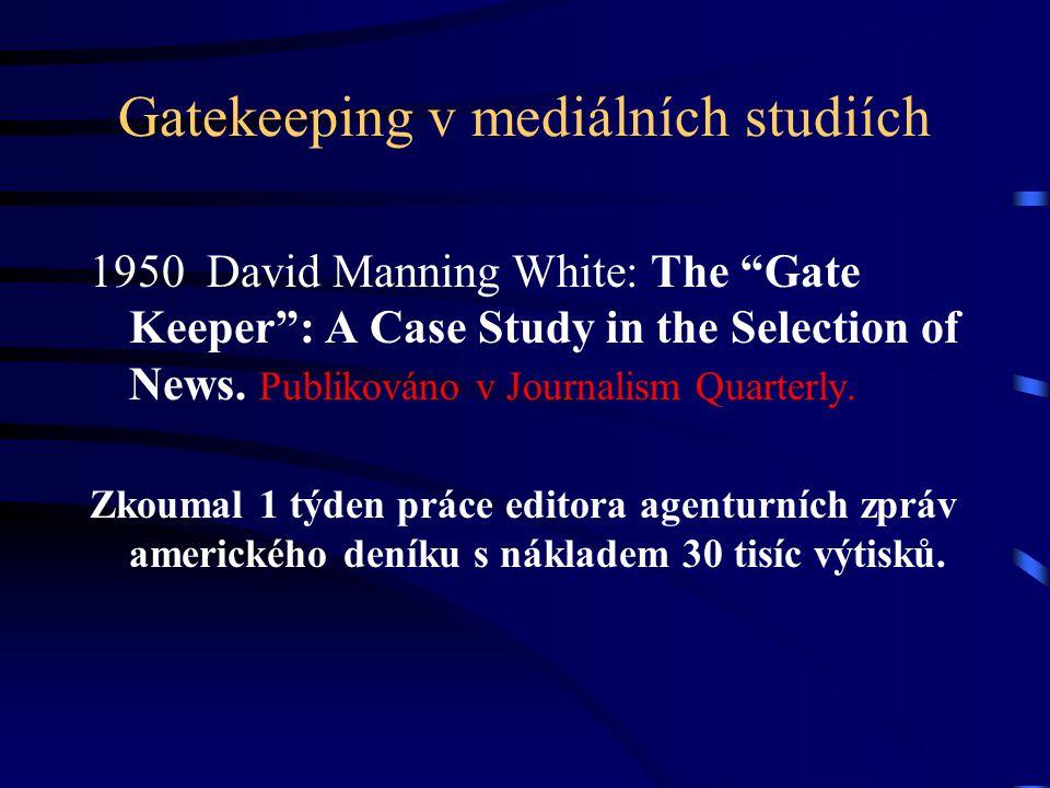 Kategorie zpráv užité D.M.