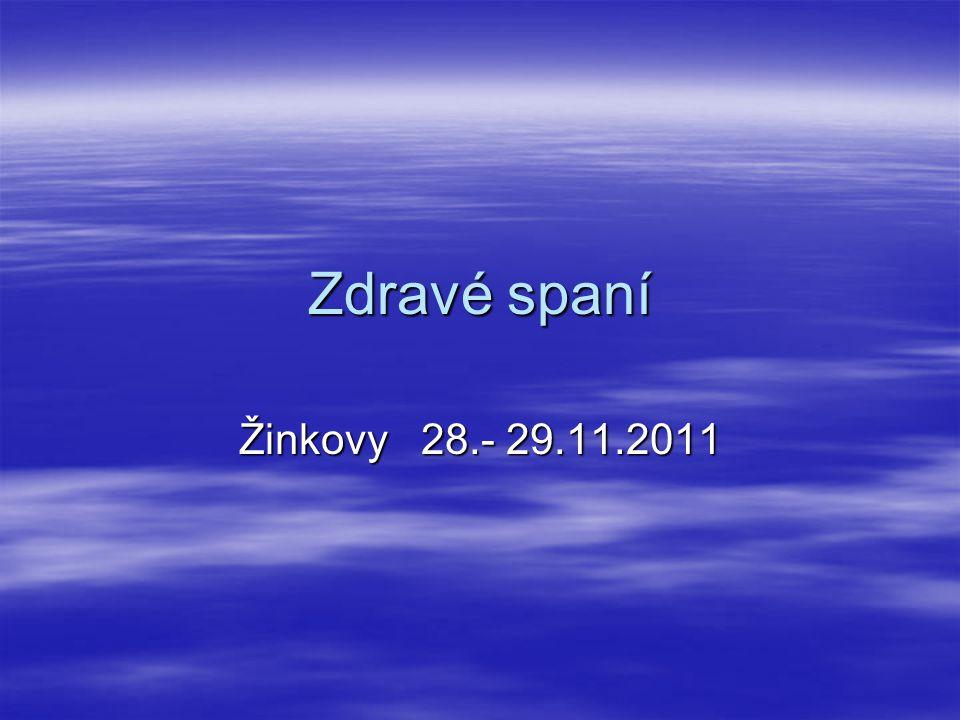 Zdravé spaní Žinkovy 28.- 29.11.2011