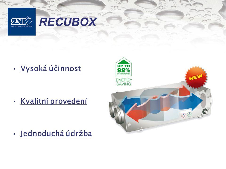 RECUBOX Vysoká účinnost Kvalitní provedení Jednoduchá údržba