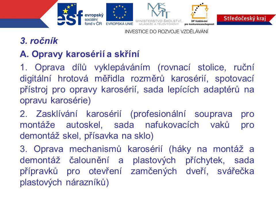 3.ročník A. Opravy karosérií a skříní 1.