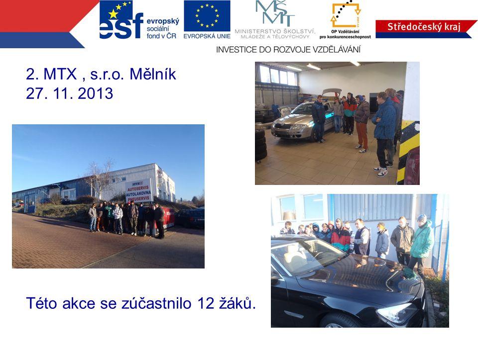 3. Strojní závody, s.r.o. Kojetice 20. 2. 2014 Akce se zúčastnilo 17 žáků školy.