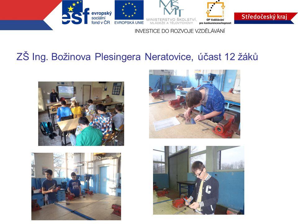 ZŠ Ing. Božinova Plesingera Neratovice, účast 12 žáků