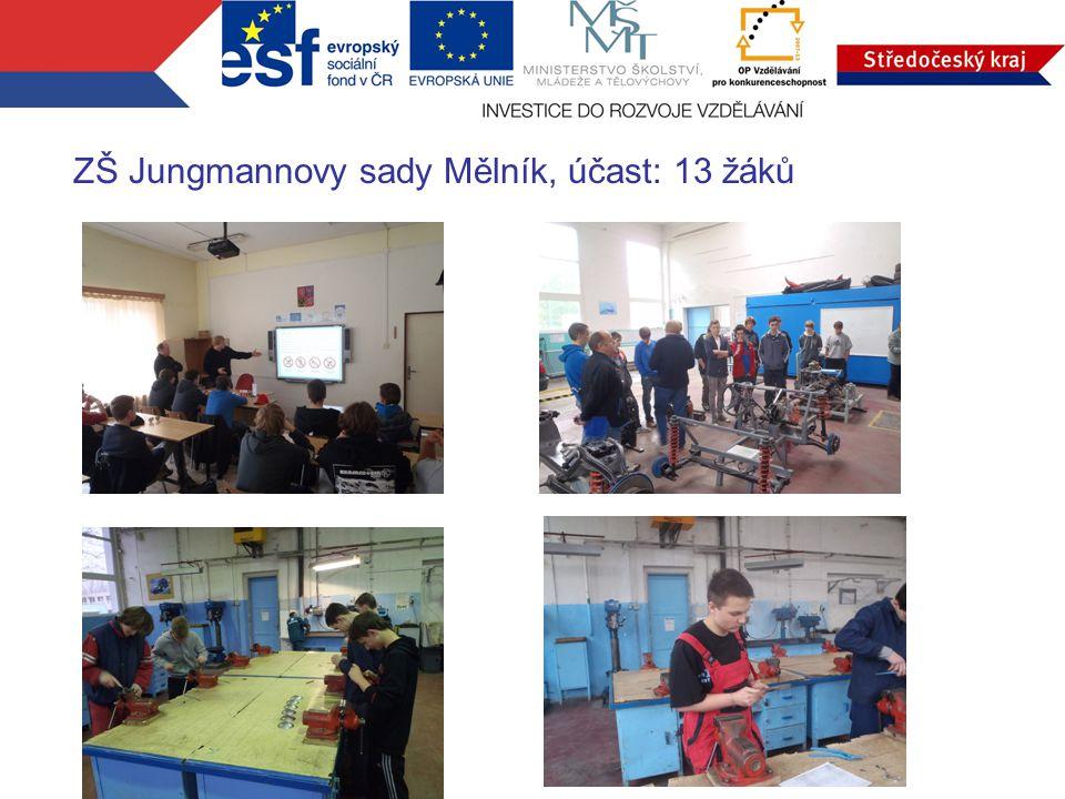 ZŠ Jungmannovy sady Mělník, účast: 13 žáků