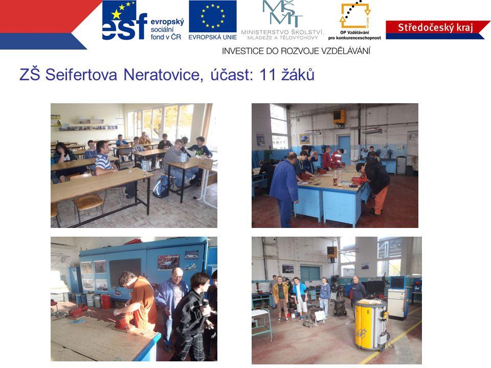 ZŠ Seifertova Neratovice, účast: 11 žáků