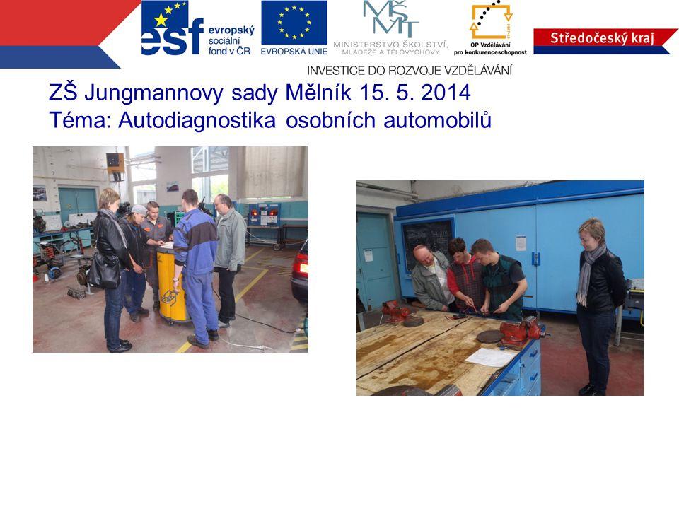 ZŠ Jungmannovy sady Mělník 15. 5. 2014 Téma: Autodiagnostika osobních automobilů