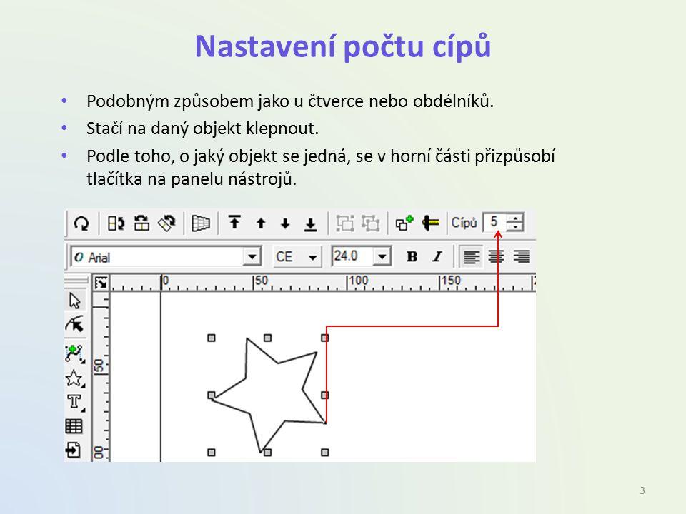 Tvarování objektů Tvar objektů lze detailněji měnit pomocí speciálních úchopových bodů.