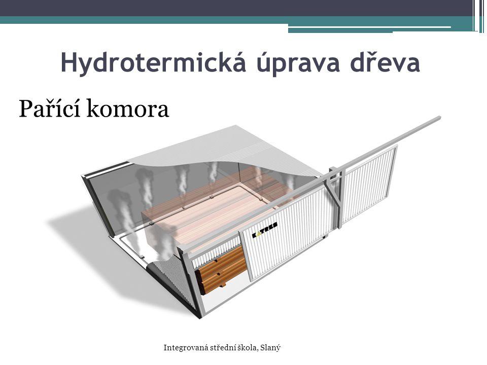 Hydrotermická úprava dřeva Pařící komora Integrovaná střední škola, Slaný