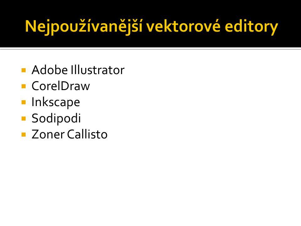  Adobe Illustrator  CorelDraw  Inkscape  Sodipodi  Zoner Callisto