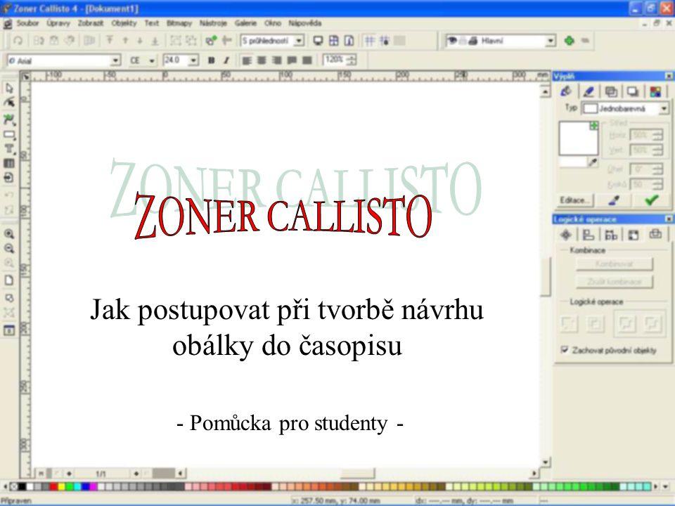 Jak postupovat při tvorbě návrhu obálky do časopisu - Pomůcka pro studenty -
