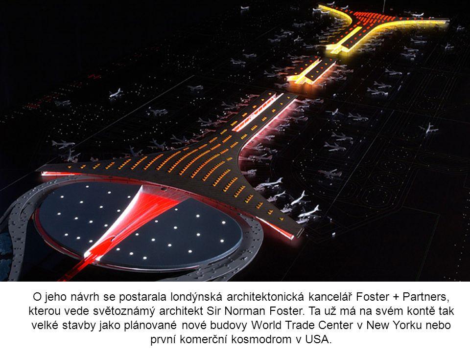 O jeho návrh se postarala londýnská architektonická kancelář Foster + Partners, kterou vede světoznámý architekt Sir Norman Foster.