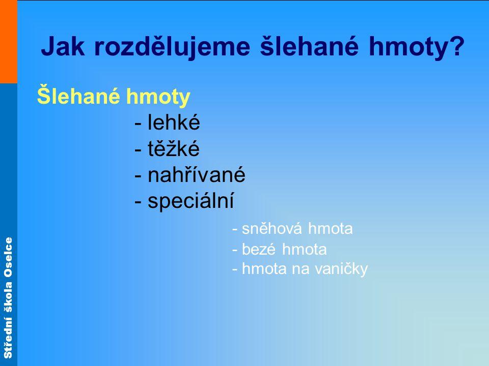 Střední škola Oselce Cukrářské piškoty Obr.11 Obr.15 Nepečené dorty