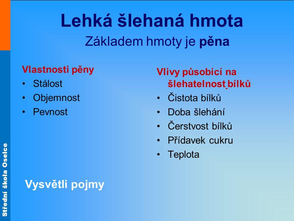 Střední škola Oselce Cukrářské piškoty Nepečené dorty Obr.9 Obr.10