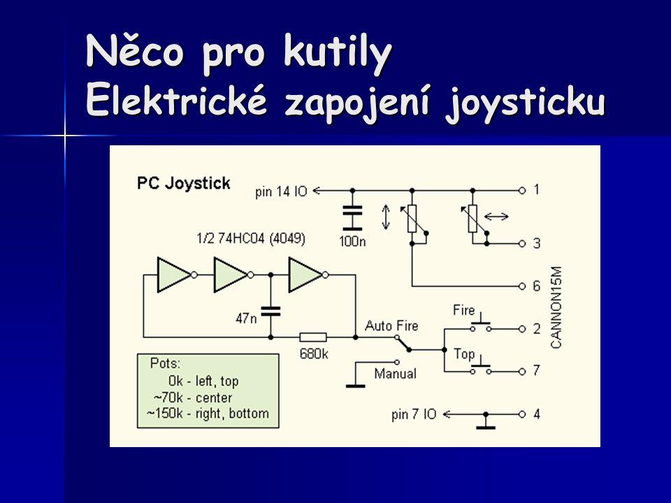 Něco pro kutily E lektrické zapojení joysticku