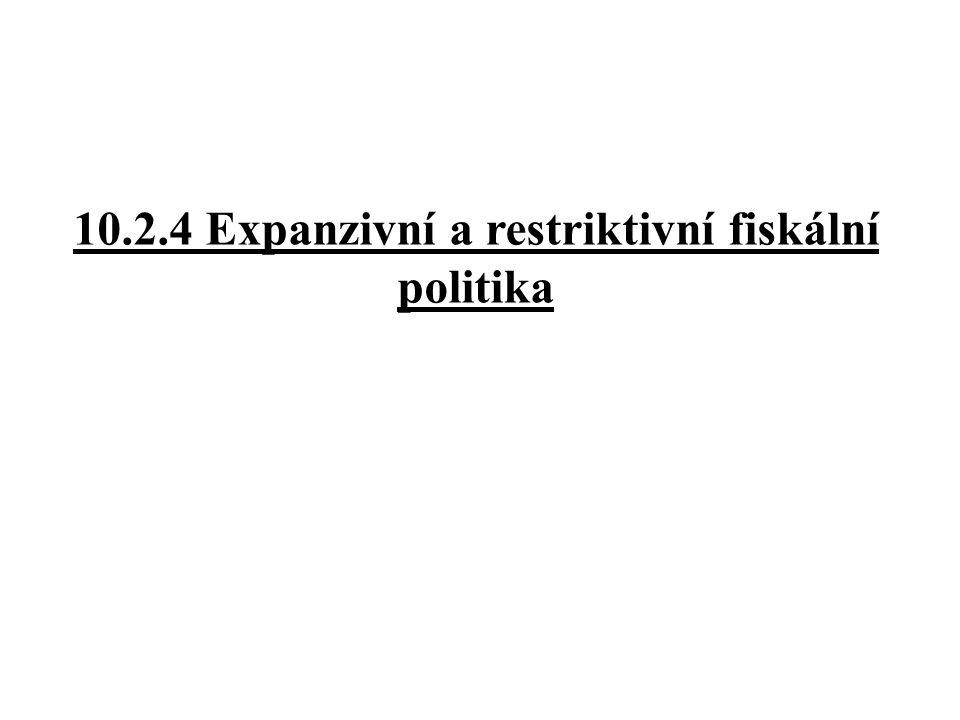 10.2.4 Expanzivní a restriktivní fiskální politika