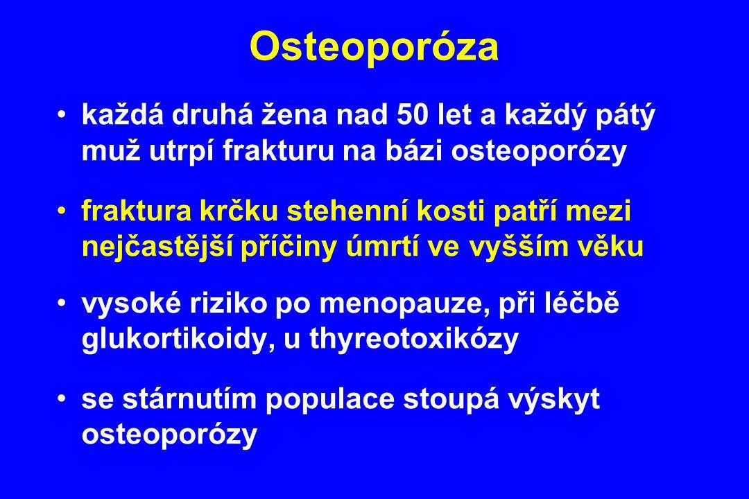 každá druhá žena nad 50 let a každý pátý muž utrpí frakturu na bázi osteoporózy fraktura krčku stehenní kosti patří mezi nejčastější příčiny úmrtí ve