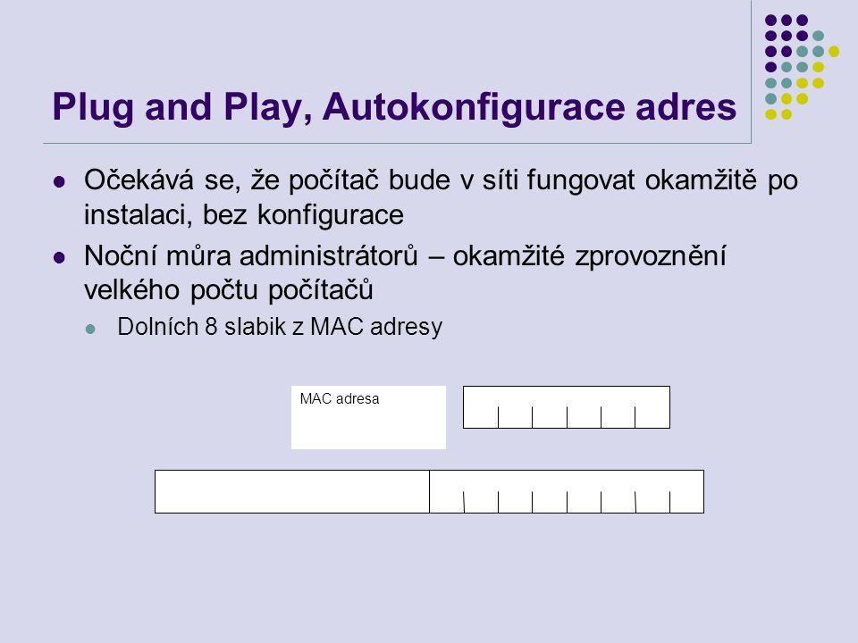 Plug and Play, Autokonfigurace adres Očekává se, že počítač bude v síti fungovat okamžitě po instalaci, bez konfigurace Noční můra administrátorů – ok