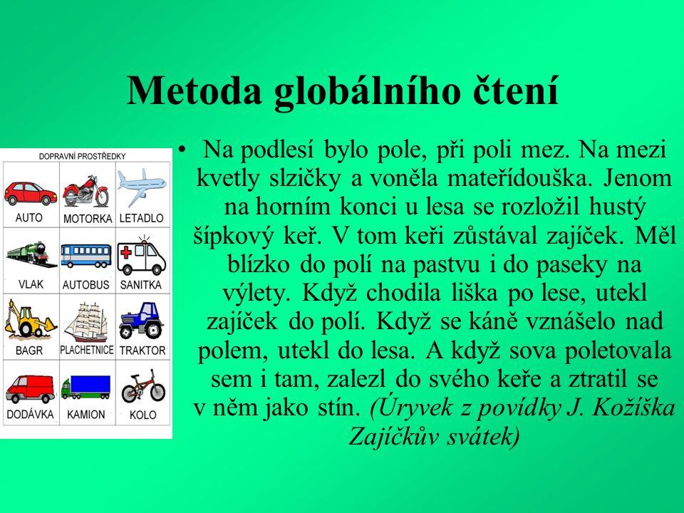 Metoda globálního čtení Na podlesí bylo pole, při poli mez.