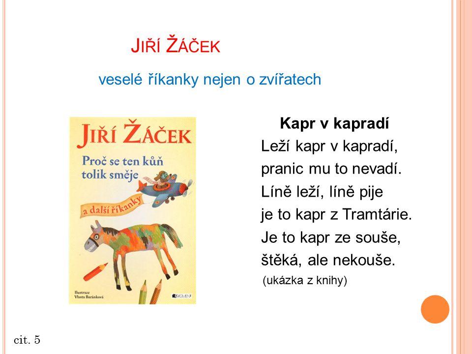 J IŘÍ Ž ÁČEK POEZIE  velmi známý dramatik, překladatel autor humorných i vážných veršů pro děti i dospělé Mosty K čemu jsou mosty přes řeku.