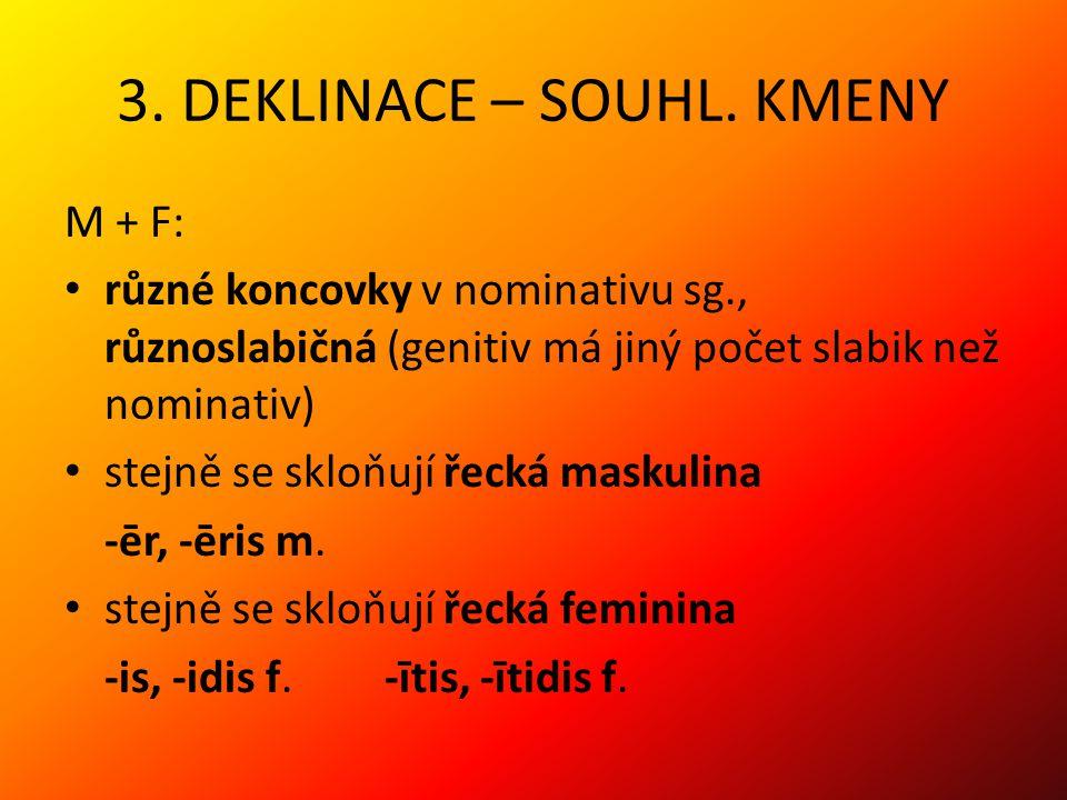3.DEKLINACE – SOUHL.