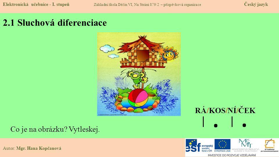 2.1 Sluchová diferenciace Elektronická učebnice - I.