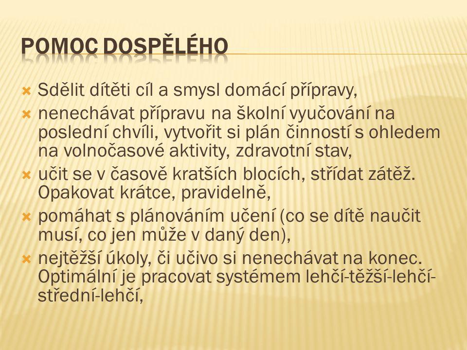 V prezentaci byly použity informace o metodách práce a vhodná doporučení od autorek Jucovičové, Žáčkové, Zelinkové, Pokorné, Bednářové, Svobodové a mnohých dalších.