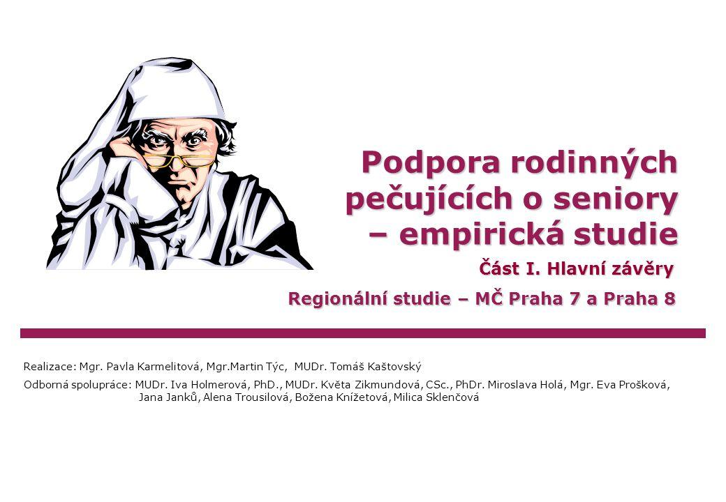 Karmelitová/Týc/KaštovskýPodpora rodinných pečujících o seniory, 2005Strana 22 Profil rodinného pečujícího I.