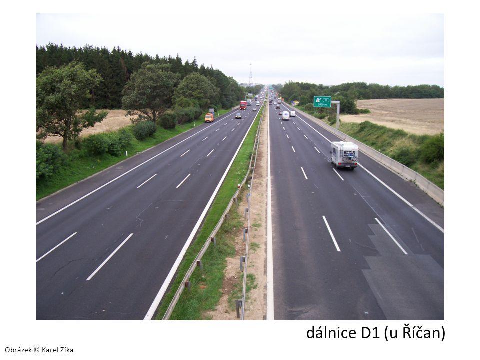 dálnice D1 (u Říčan) Obrázek © Karel Zíka