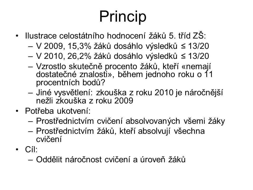 Princip Ilustrace celostátního hodnocení žáků 5.