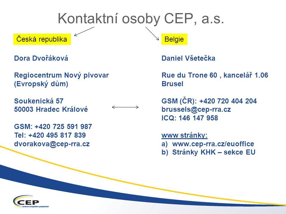 Kontaktní osoby CEP, a.s.