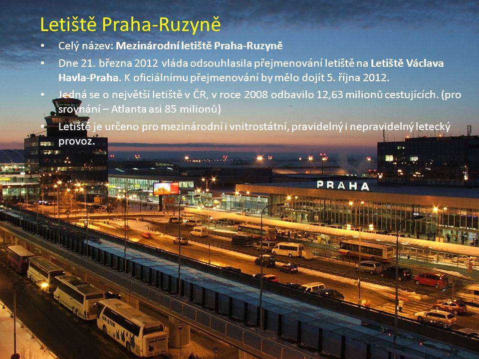 Letiště Praha-Ruzyně Celý název: Mezinárodní letiště Praha-Ruzyně Dne 21.