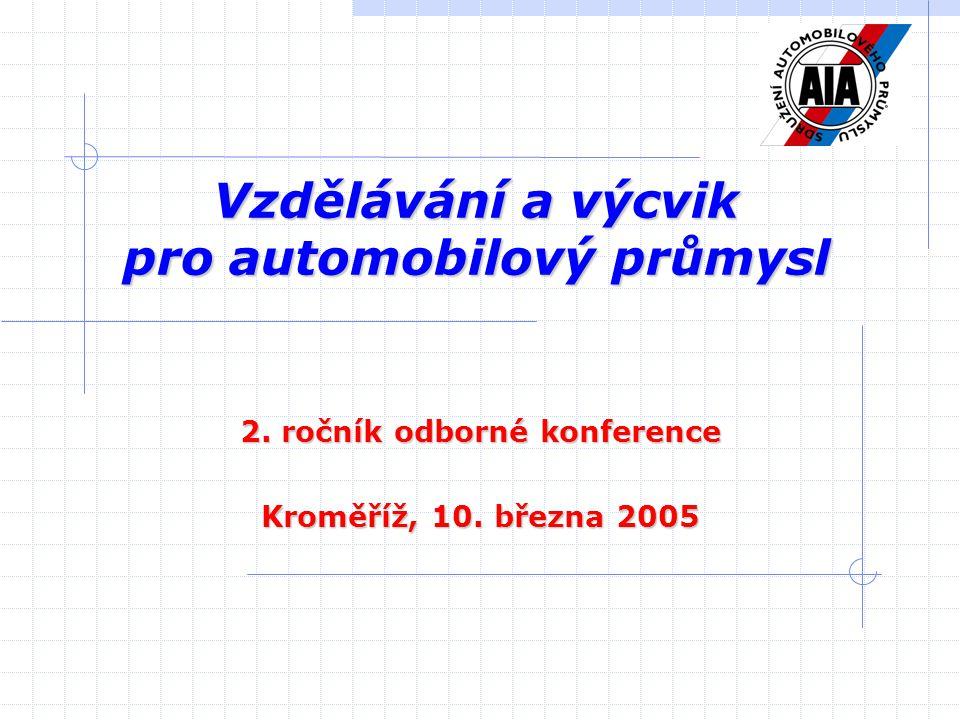 Vzdělávání a výcvik pro automobilový průmysl 2. ročník odborné konference Kroměříž, 10. března 2005