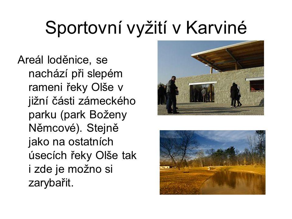 Sportovní vyžití v Karviné Areál loděnice, se nachází při slepém rameni řeky Olše v jižní části zámeckého parku (park Boženy Němcové). Stejně jako na