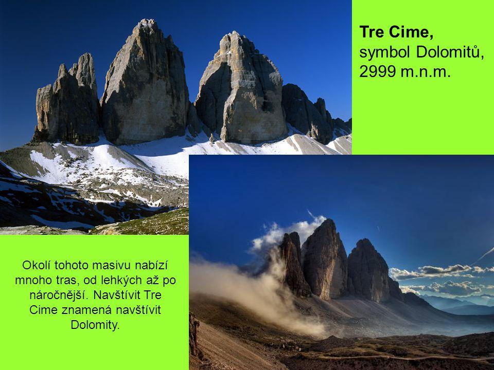 Tofane – 3244 m.n.m.Jeden z nejpůsobivějších ale také nejvyšších vrcholů Dolomit.
