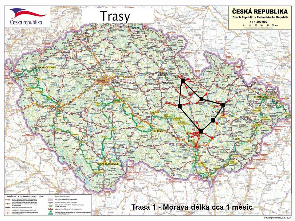 Trasa 1 - Morava délka cca 1 měsíc