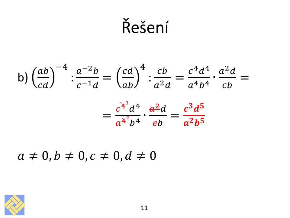 Řešení 11