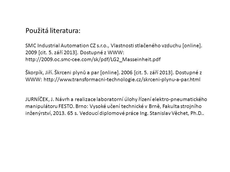 SMC Industrial Automation CZ s.r.o., Vlastnosti stlačeného vzduchu [online]. 2009 [cit. 5. září 2013]. Dostupné z WWW: http://2009.oc.smc-cee.com/sk/p