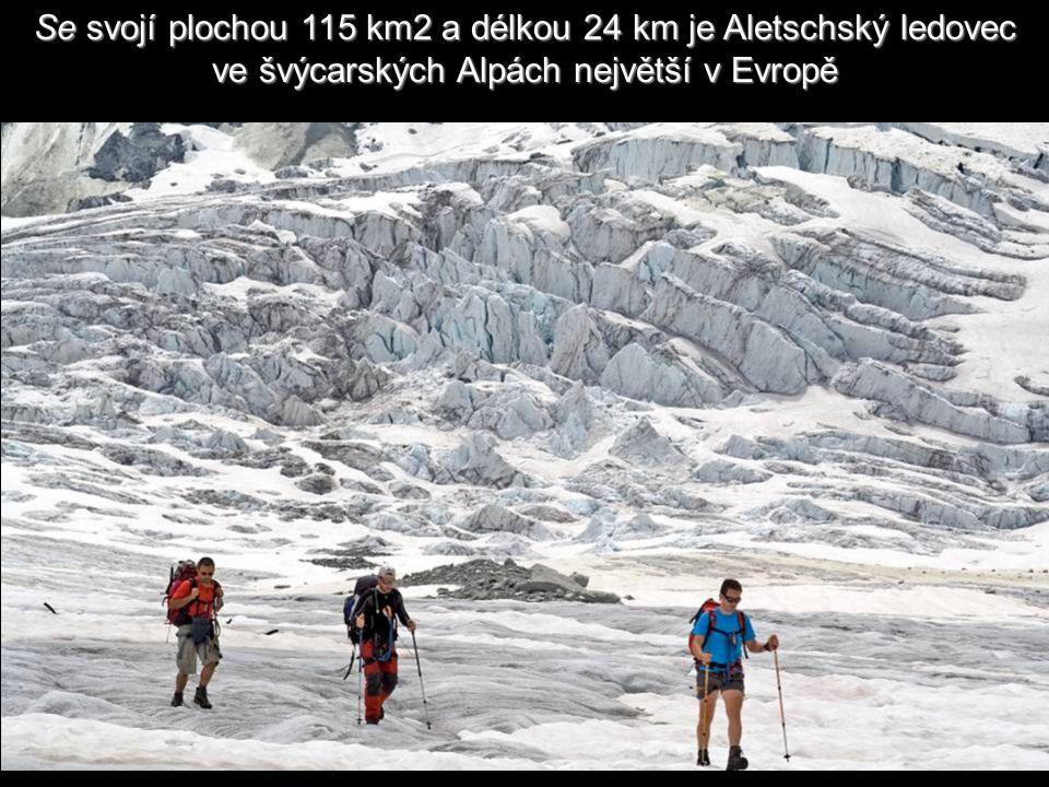 Na začátku je šířka ledovce přibližně 1,5 km, rychlost pohybu asi 180 m ročně