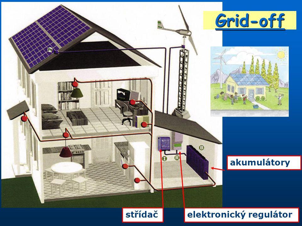 elektronický regulátorstřídač akumulátory Grid-off