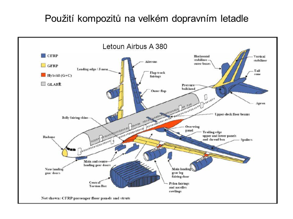 Použití kompozitů na velkém dopravním letadle Letoun Airbus A 380